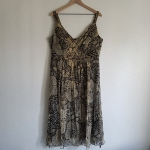 Signature by Robbie Bee Floral Midi Dress 18W